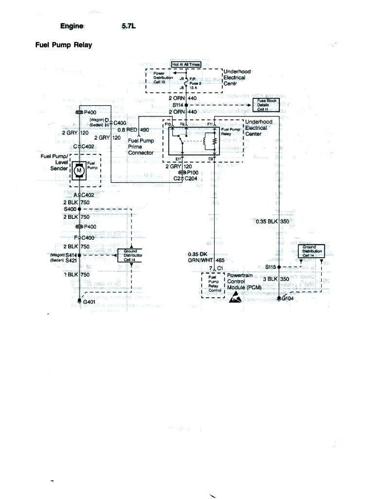 1995 Impala S Fuel Pump Wiring Diagram