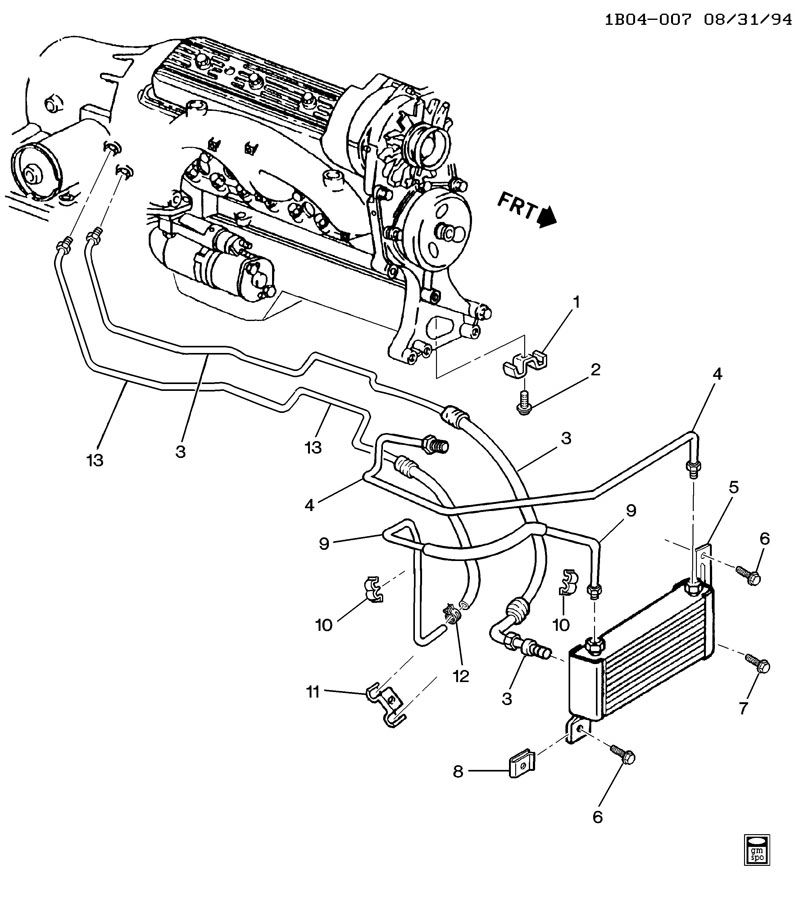 1995 chevy silverado transmission lines