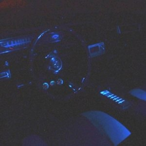 Icy Blue LEDs interior ambient lighting.