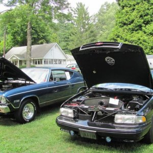 "My 1968 SS Chevelle BB car and the ""Land Yacht"" same show 8/2011 ""Double Wins"""