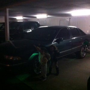 first night home kids loving it car lifted up